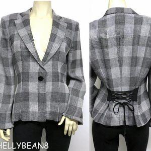 ARMANI COLLEZIONI Jacket CORSET Back Blazer 14